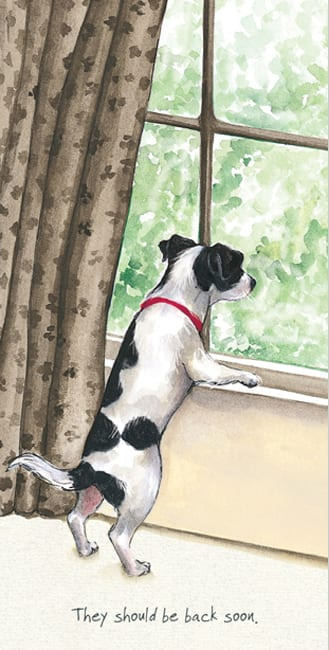 Jack Russell Greeting Card – Back Soon