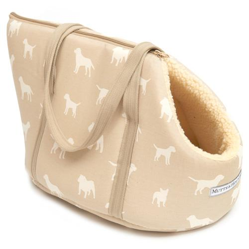 Dog Carrier / Travel Bed - Biscuit Dog Print