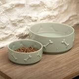 Sage Green Large Dog Bowl