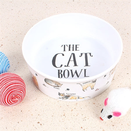 Curious Cats Cat Bowl Small