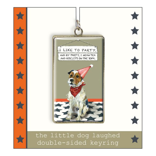 Parsons / Fox Terrier Keyring - Party