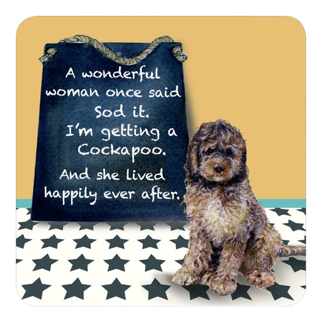 Coaster - Cockapoo Happily Ever After
