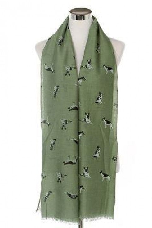 German Shepherd Print Scarf