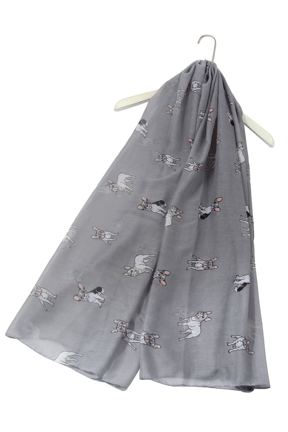 French Bulldog Dog Print Scarf