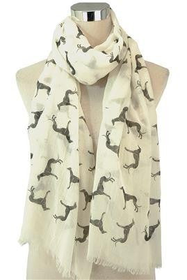 Greyhound Print Scarf