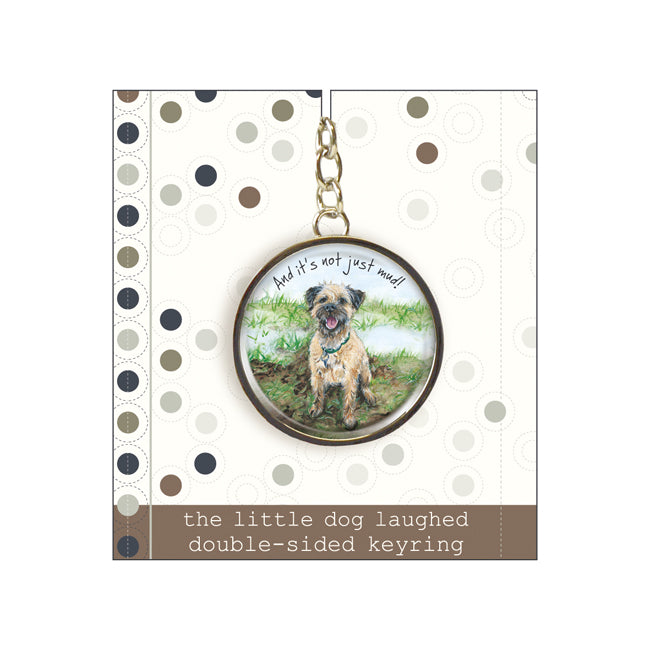 Border Terrier Keyring - Not Mud