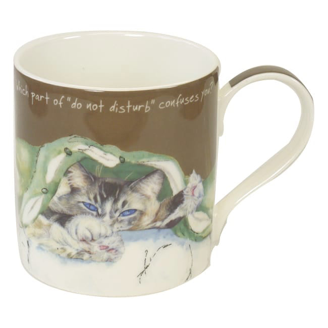 Boxed Fine Bone China Mug - Cat (Confuses you)
