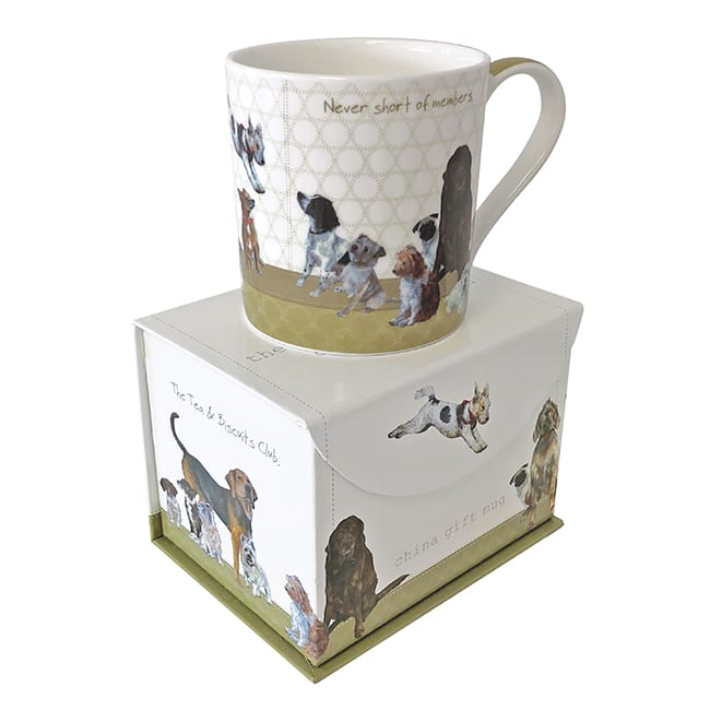 Boxed Fine Bone China Mug - Biscuit Club