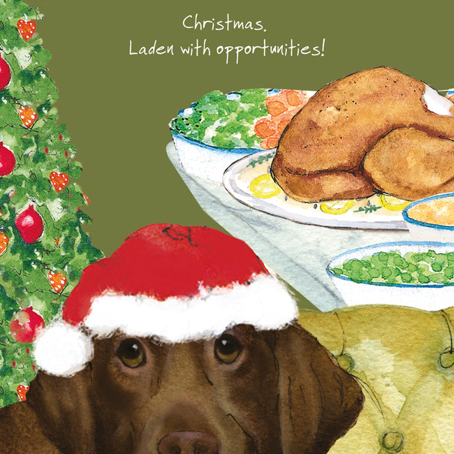 Christmas Card - Laden Labrador