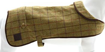 Tweed Dog Coat with Fleece