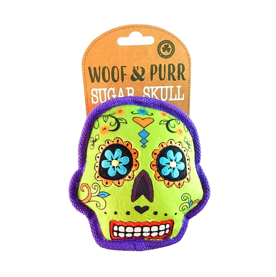 Sugar Skull Plush Pet Toy