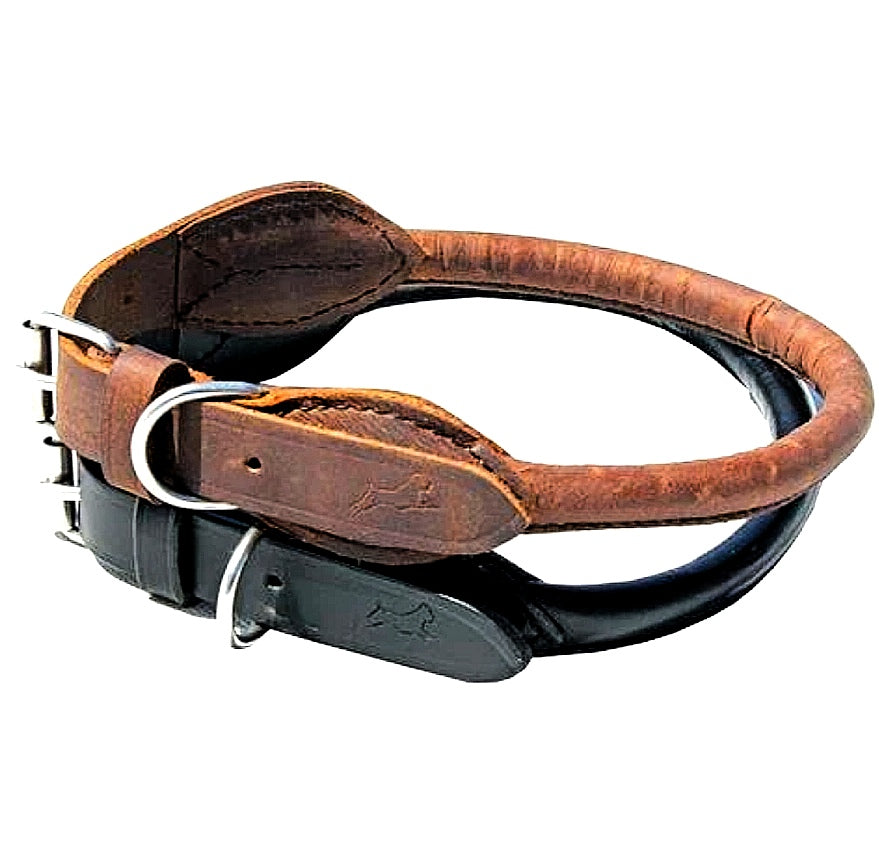 Leather Rolled Collar