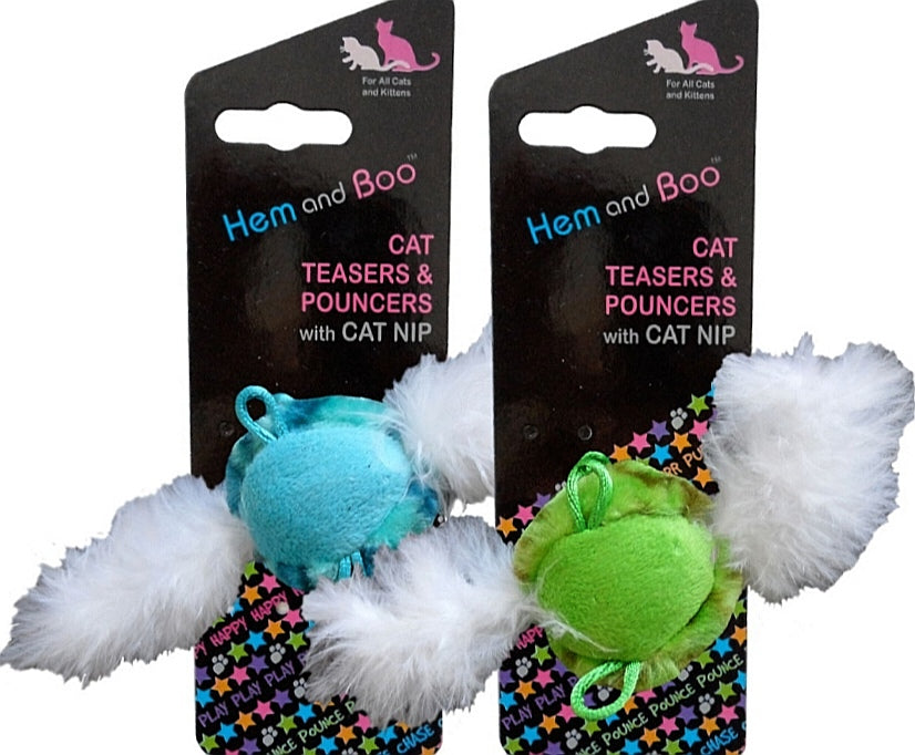 Chirping Feather Ball Cat Nip Toy