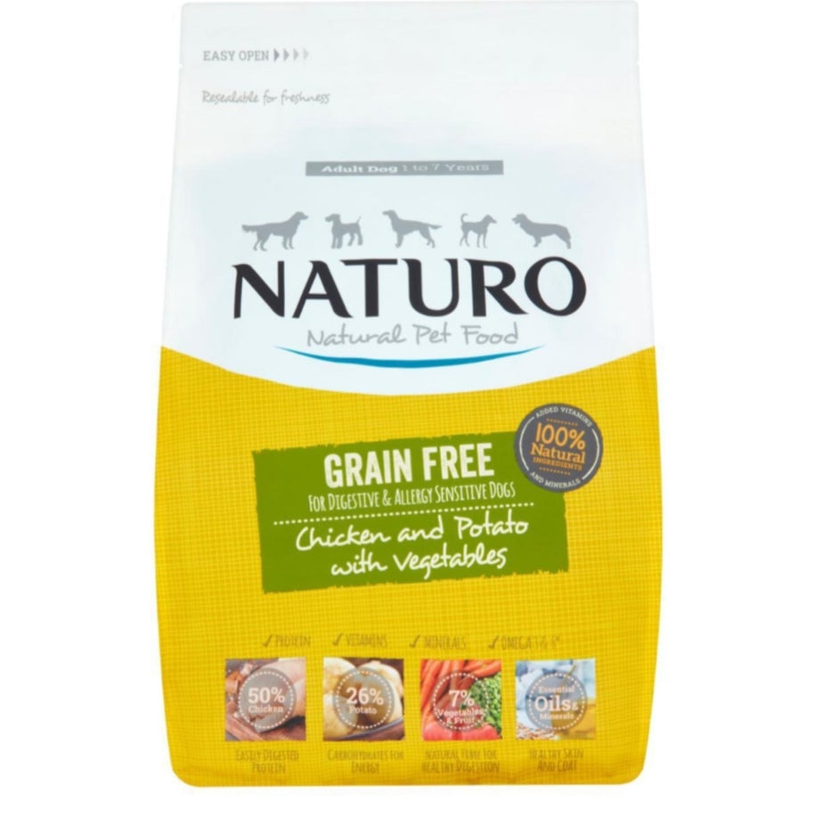 Naturo Dry Food 2kg (Click & Collect Only)