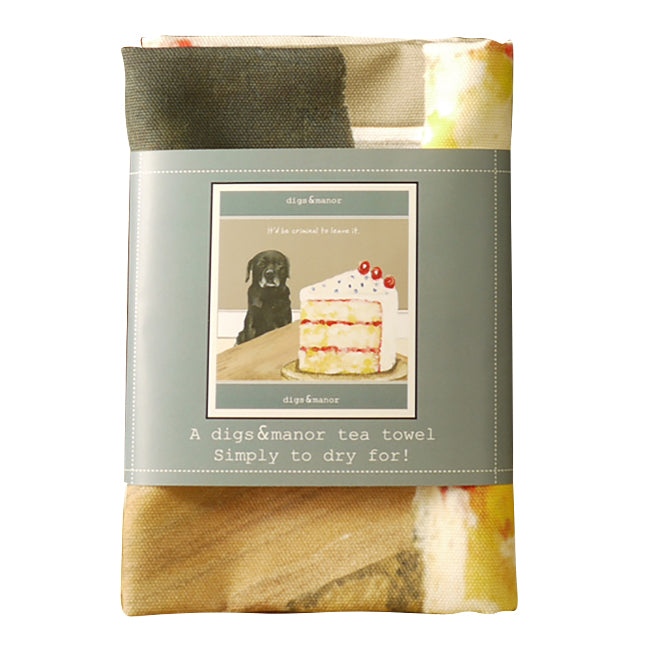 Black Labrador - Designer Tea Towel - Criminal