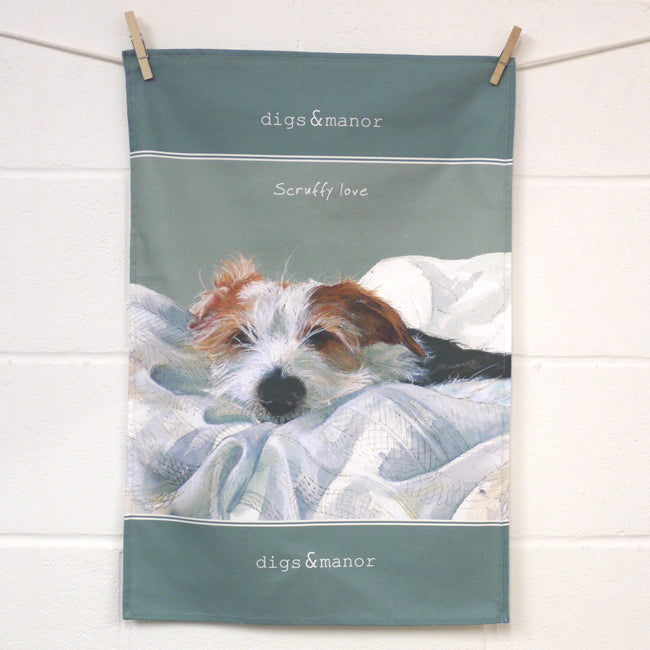 Scruffy Love - Designer Tea Towel