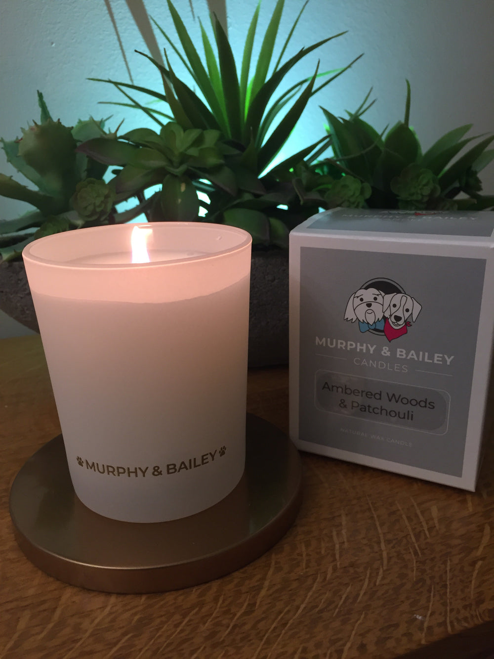 Ambered Woods and Patchouli Candle