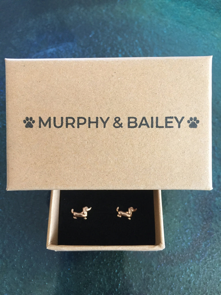 Dachshund Design earrings