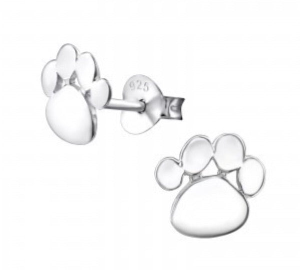 Solid Paw Print Design Earrings