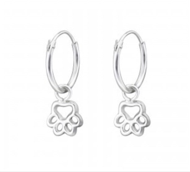 Paw Print Hoop earrings