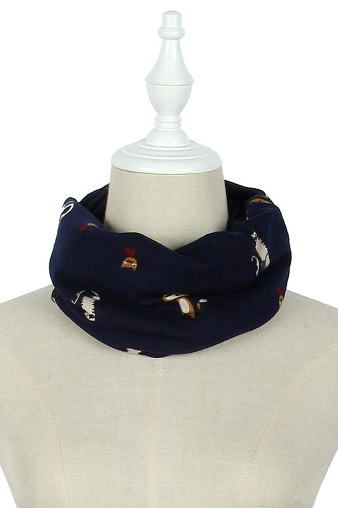 Kids Snood Cat Motif