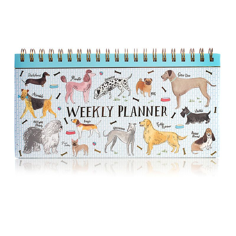 Hardback Spiral Weekly Planner - Dogs