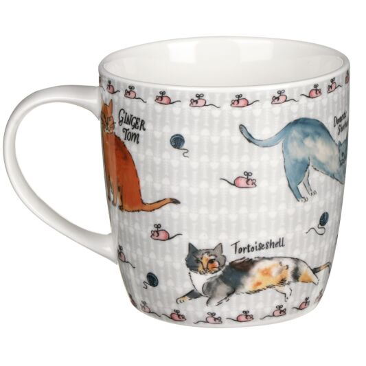 Curious Cats Bone China Mug