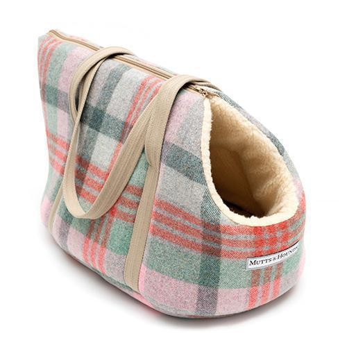 Dog Carrier / Travel Bed - Macaroon Tweed