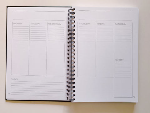 Weekly view of the Emma & Vincent Everyday Planner