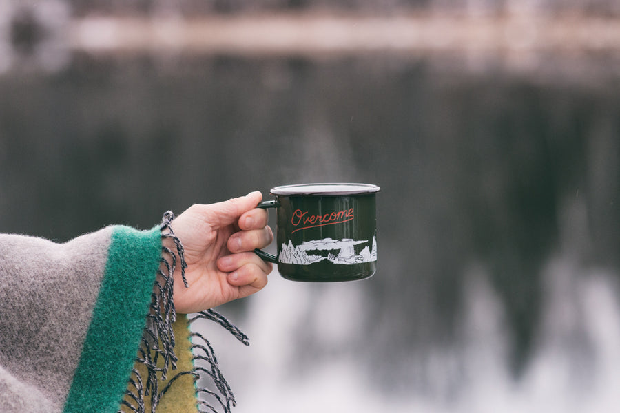 OVERCOME - Journey Enamelware Mug