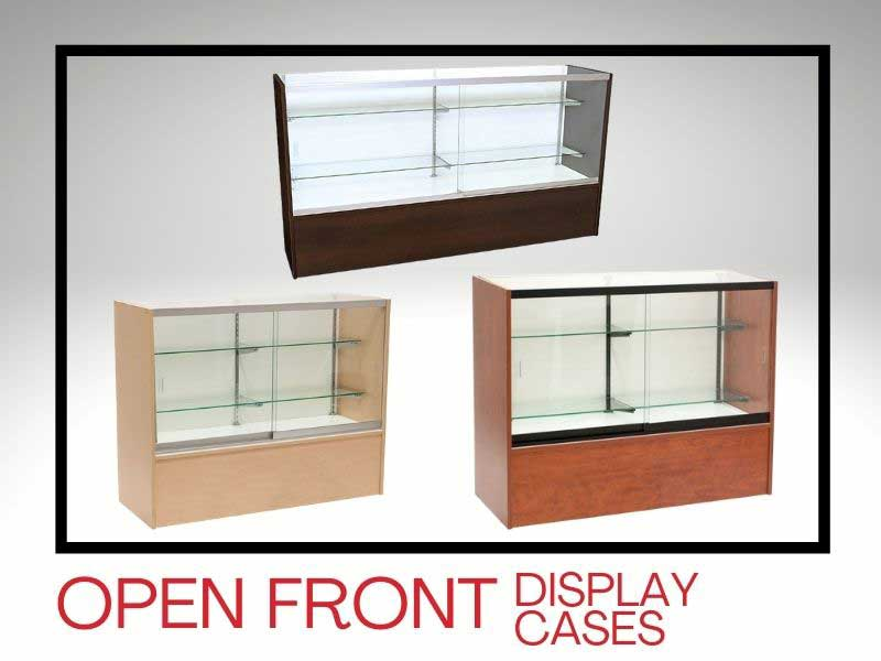 OPEN FRONT DISPLAY CASES