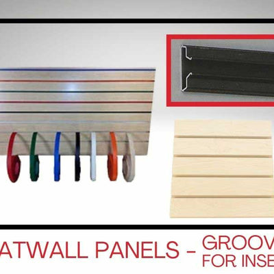 Slatwall Panels - Grooved for Inserts