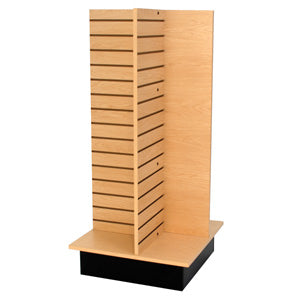 "Slatwall 4-way unit, 24"" square x 53"" high"