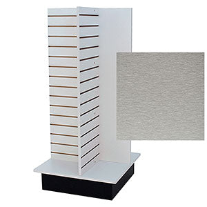 Slatwall 4Way Unit Brushed Aluminum