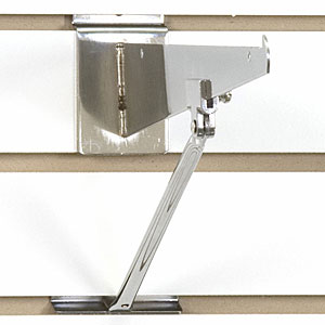 Slatwall Bracket Support - Chrome