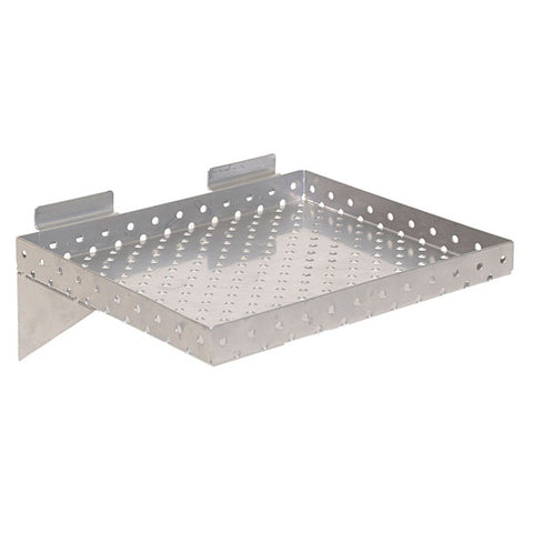 Slatwall Shelf - Perforated Metal