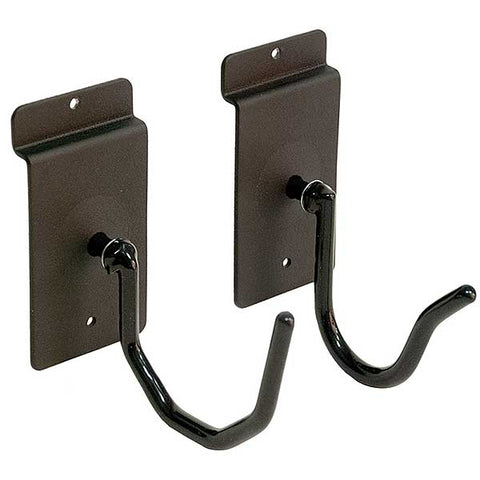 Horizontal Slatwall Firearm Holder Set of 2 (one wide, one narrow) - Black Rubber Coating