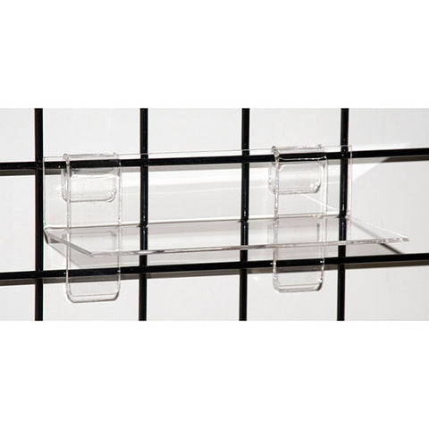 Acrylic Grid Shelf - Clear