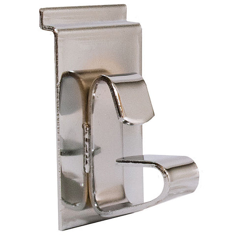 Slatwall Wheel Clip - Chrome