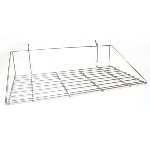 Double Shirt Shelf fits Slatwall, Grid, Pegboard - PC Chrome