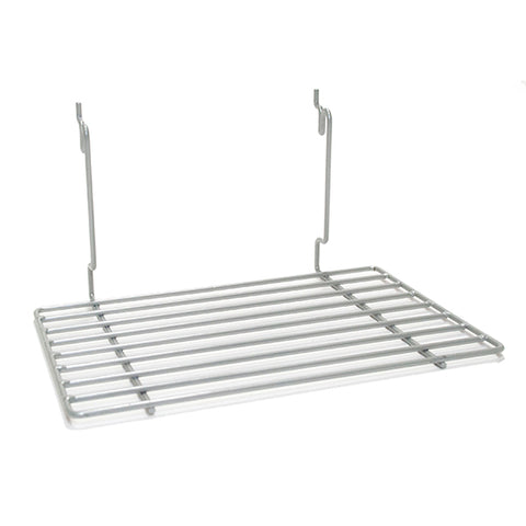 Flat Shelf fits Slatwall, Grid, Pegboard - PC Chrome