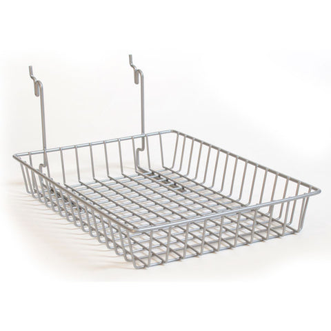 Chrome Basket Fits Slatwall, Grid, Pegboard