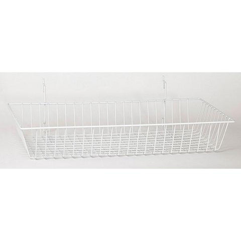 Basket fits Slatwall, Grid, Pegboard - Chrome