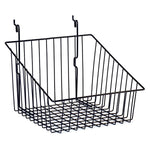 Sloping Basket Front Fits Slatwall, Grid, Pegboard