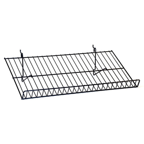 Sloping Shelf fits Slatwall, Grid, Pegboard