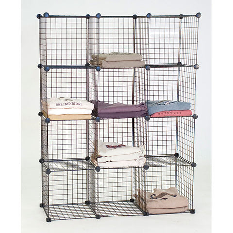 Mini Grid Shelf Unit - Black