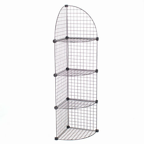 Mini Grid Corner Unit - 4 Shelf