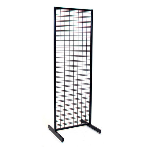 Slatgrid Unit- 2 'x 6' -  Black with T-Legs