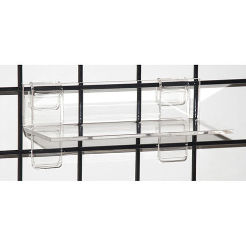 Acrylic Grid Shelf Thick - Clear