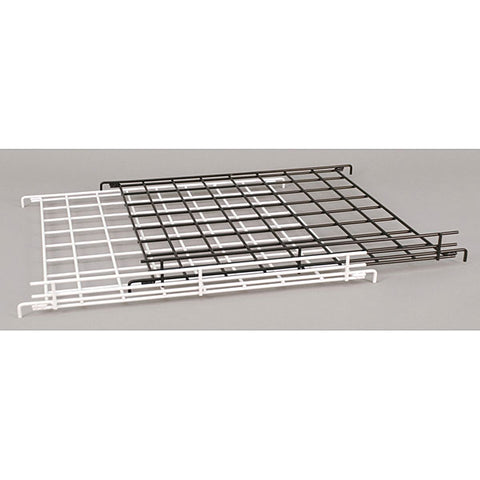 "Flat Grid Shelf with 2"" Lip - Black"